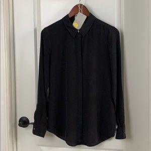 Boden Black Silk Blouse, Size US 4. UK 8